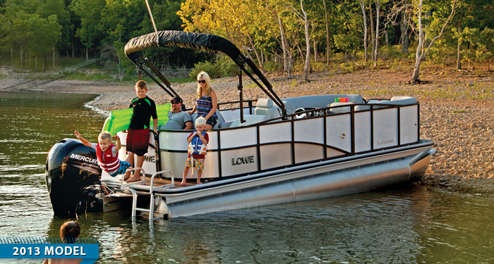 lowe pontoon boats