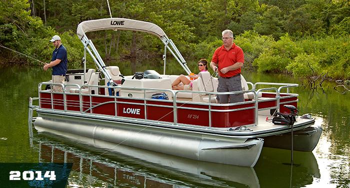 Lowe pontoons sf234 pontoon fishing boat locate pontoon for Fishing deck boats