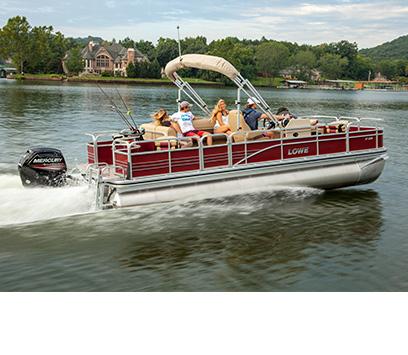 Lowe 2017 sport fish series sf pontoon boats for Best fishing pontoon boats