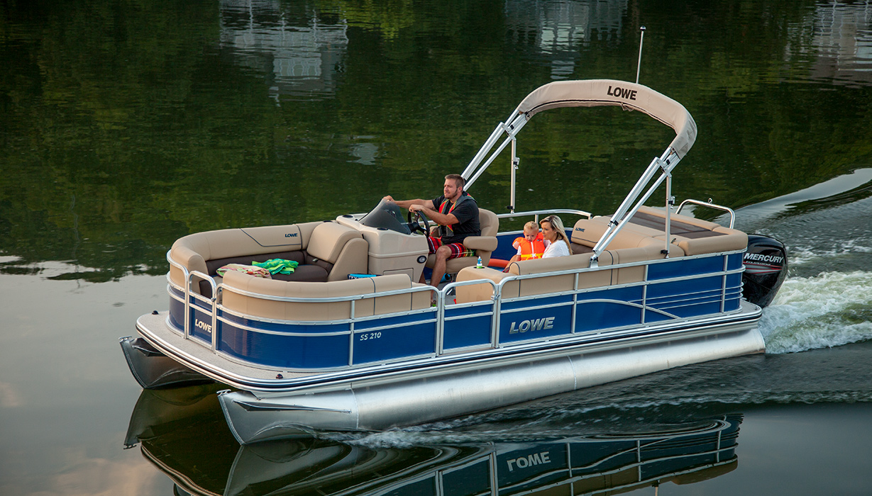 2017 ss210 sport pontoon boat | lowe pontoons on