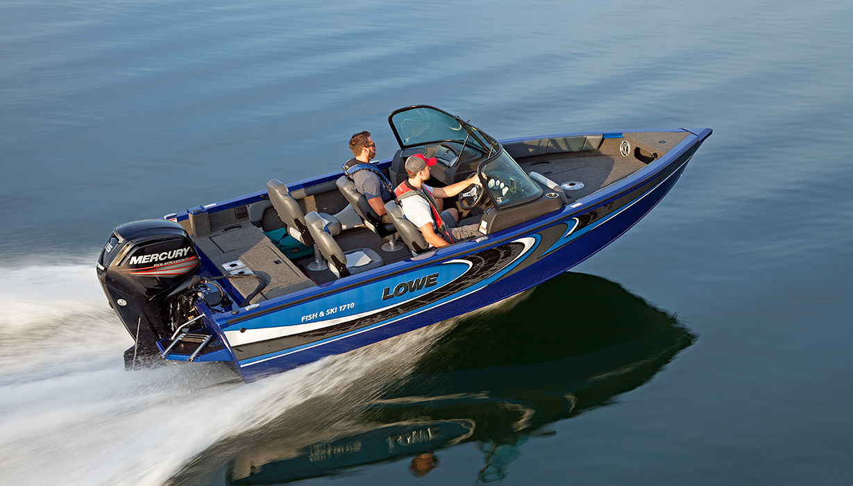 New 2018 fs 1710 aluminum fish ski boat lowe boats for Fish and ski