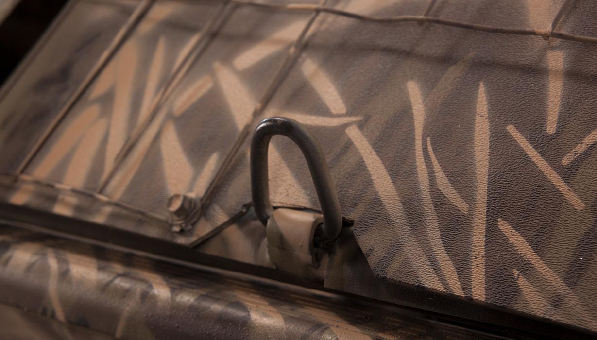 RX 1860 Waterfowl Tiller Bust'Em Boat Blind Cover