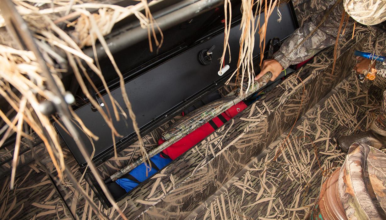 RX 1860 Waterfowl Tiller Storage