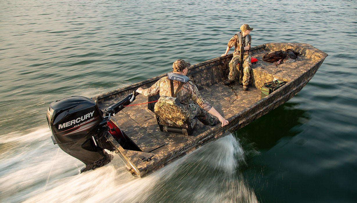 2019 Roughneck 18DT Jon Aluminum Hunting Boats   Lowe Boats