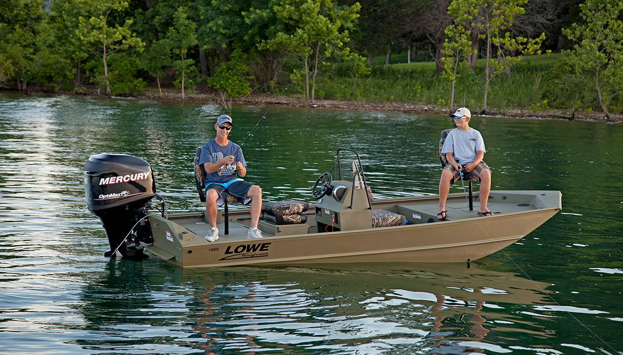 2018 Roughneck 1860 Tunnel Jet Fishing and Hunting Boats | Lowe Boats