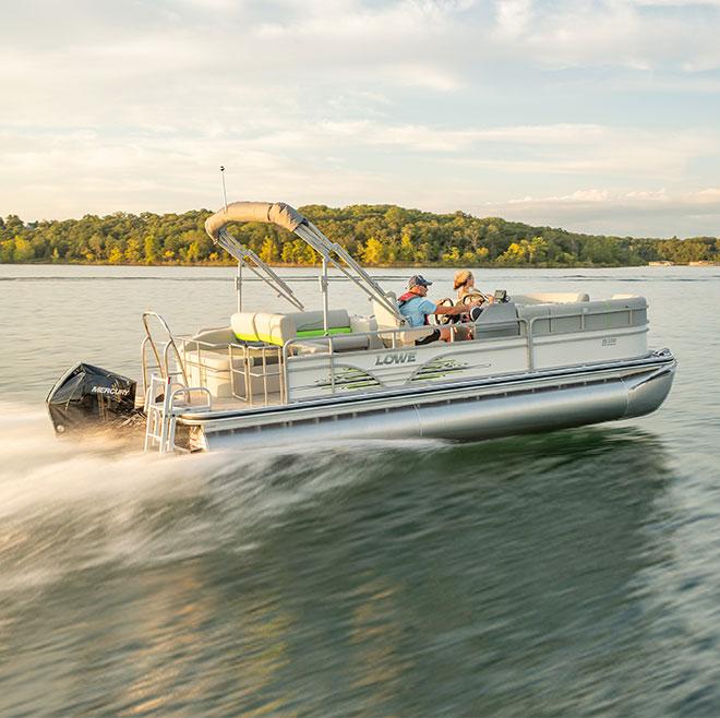 Lowe Ss230 Convertable Lounge Sport Pontoon Boat Lowe Pontoons