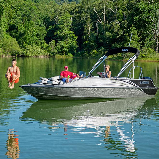 22\u0027 sd224 sport deck boat lowe boats