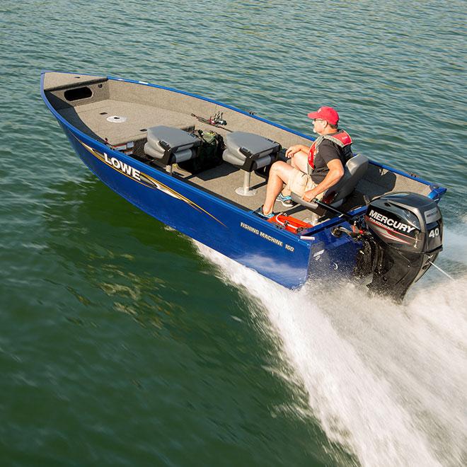 16' Lowe FM 160 T Deep-V Aluminum Fishing Boat | Fishing Machine