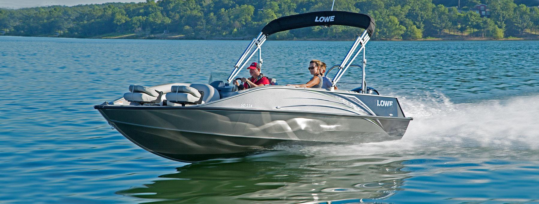 2019 SD224 Fishing Ski Aluminum Deck Boat   Lowe Boats