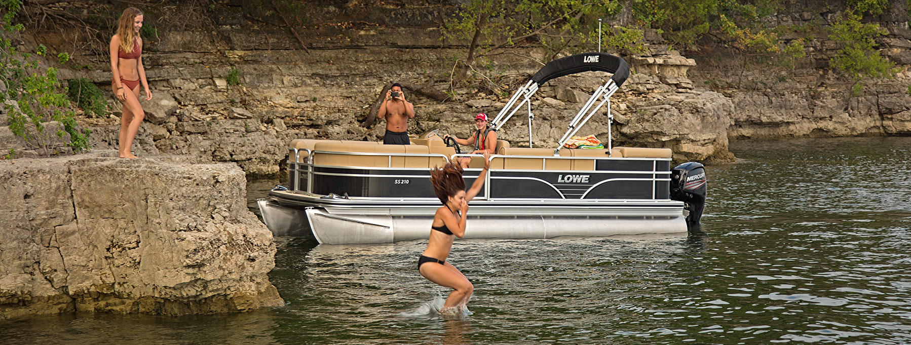 Lowe Pontoon Boat Wiring Diagram Stratos Trailer 2019 Ss210 Sport Pontoons Rh Loweboats Com For A Lights And Switches Harness