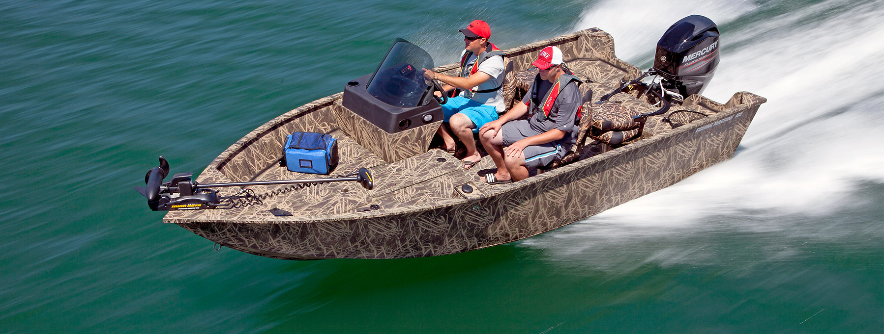 2017 fm 165 poly camo deep v boat best fishing boats for Best fishing boats 2017
