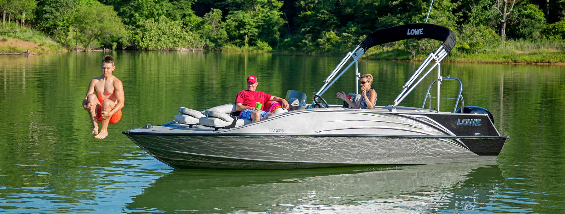 2017 sd224 fishing ski aluminum deck boat lowe boats for Best fish and ski boats 2017