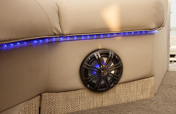 Premium Marine Speakers and Optional Lighting Package