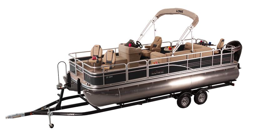 2017 sf234 fishing pontoon boat lowe boats for Best fishing pontoon boats