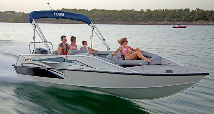 sd224 fishing ski deck boat new aluminum deck boats